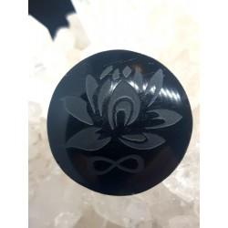 Colgante Obsidiana Loto e...